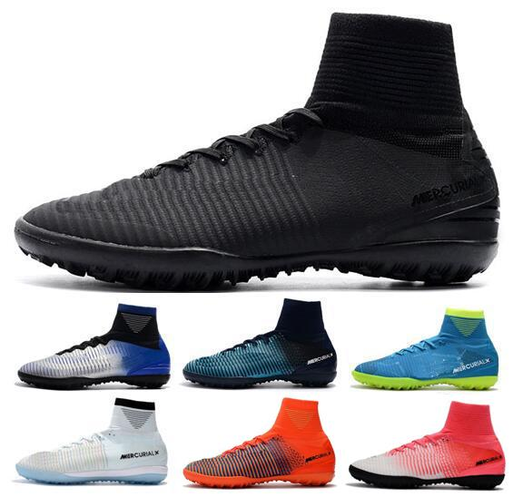 Nuevos zapatos de fútbol Mercurial Superfly V TF 2019 Cristiano Ronaldo Hombres CR7 Zapatos de fútbol Botas de fútbol Botas de fútbol