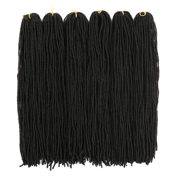 "Synthetic for Braiding 18"" DIY Crochet 54strands/pack Micro Locs BraidS Synthetic Hair Extension Balck Mini Dreadlocks Braiding SISTER locs"