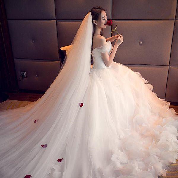 New Wedding Veil Short Female Bride Korean Simple Veil Tiara Super Fairy Net Real Photo Sen Head Accessories