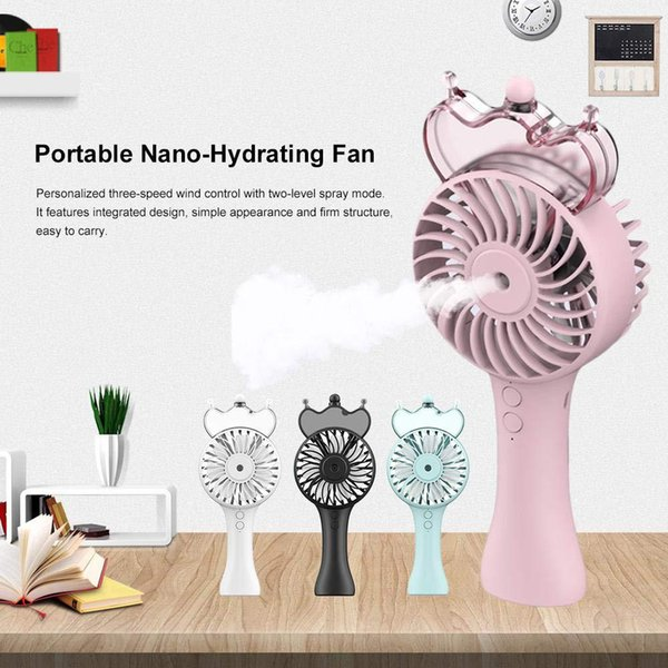 DSstyles Gadget USB Fan Taşınabilir El Sprey Nemlendirici Mini Şarj Edilebilir Sessiz Fan Açık Soğutma Aracı Ücretsiz Kargo