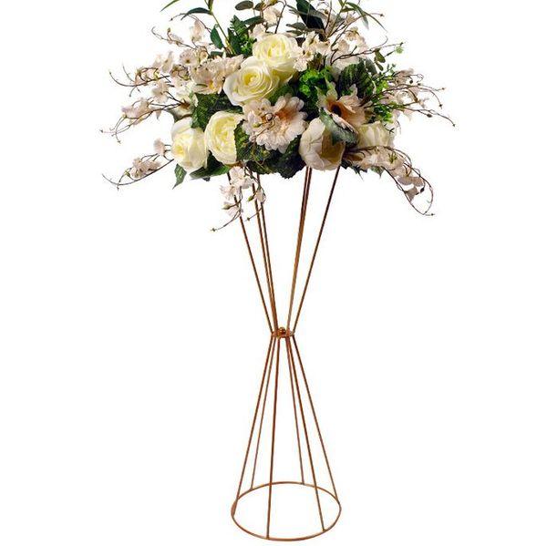 Flower Vases Floor Metal Vase Plant Dried Floral Holder Flower Pot Road Lead Hydrangea for Home/Wedding Corridor Decoration