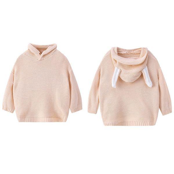 maglione inverno della ragazza manica lunga primavera calda bambine maglia maglione ragazze pullover superiore 3 5 anni soild