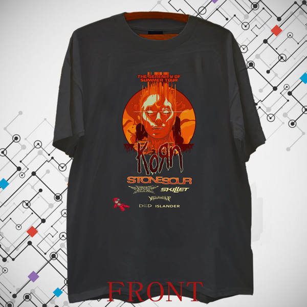 Brand New !!!Korn Metal Rock Band Album Cover Men's Black T shirt Tee S-3XL Size Discout Hot New Tshirt Jacket Croatia Leather Tshirt