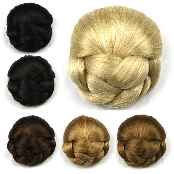 Women Hairpiece Lightweight Easy Clean Dish Hair Washable Hair Style Chignon Elegant Comfortable Wear Scrunchie Clip Wig