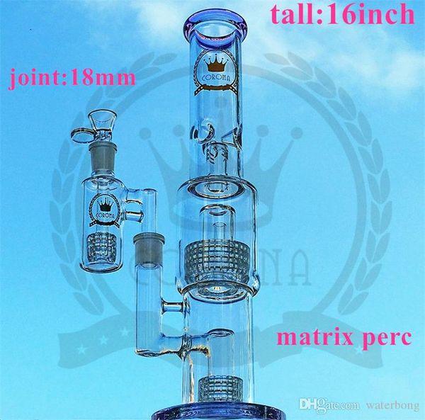 16 inç kase kuvars banger perk renkli dudak DAB kulesi yağ kule ile düz boru kabarcık Cam Bong beher borusu su boruları bonglar