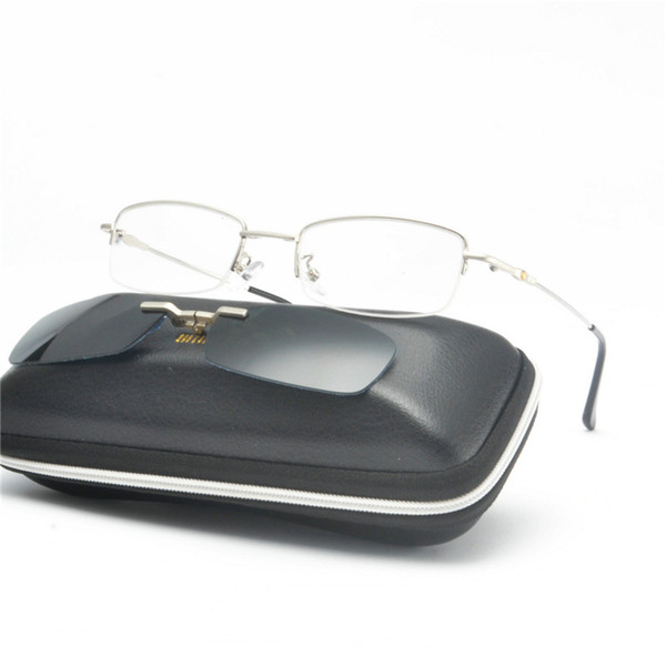 MINCL hot marca retro polarizada miopia clipe óculos de sol óculos de armação para homens mulheres conjunto de óculos espelho armações masculinas NX