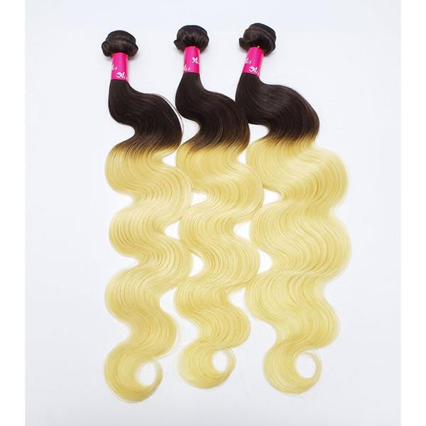 I capelli brasiliani di alta qualità tessono l'onda del corpo o diritto 1B / 613