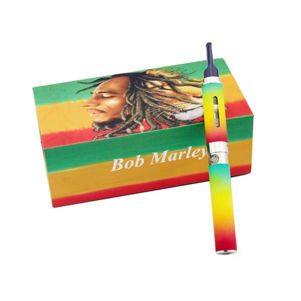 Bob marley kit de caja vaporizador de hierbas secas plumas de vape cera Atomizador de hierba seca apta para la batería ego-t