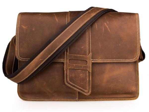 Евро-американский стиль кожа мужская сумка одно плечо сумка кожа поперечного сечения одно плечо сумка 7263