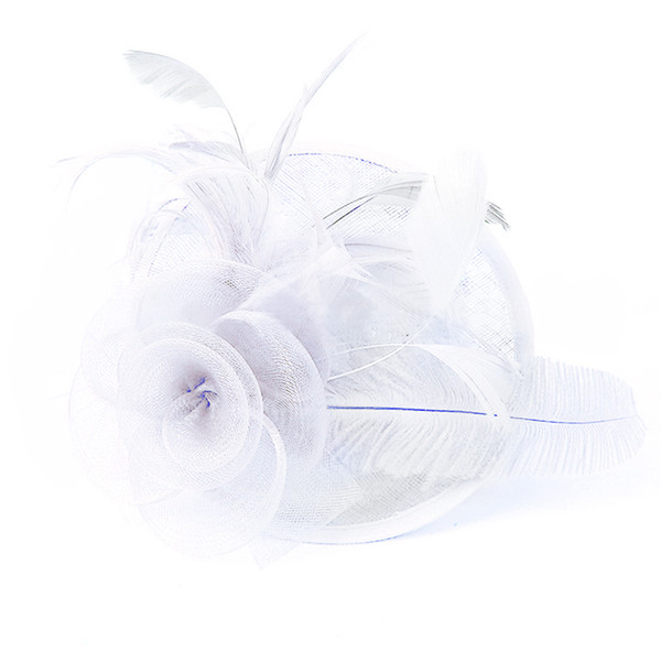 Elegent Feather Hair Clip Mesh Elastic Net Fascinating Hat With Hair Clip Women Party Hat Hot Sale