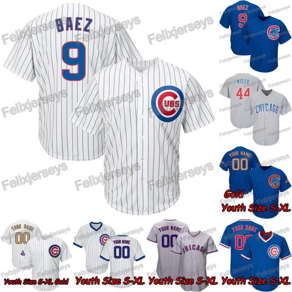 Dame Jugend Männer Chicago 9 Javier Baez Bryant Rizzo Kyle Schwarber Jason Heyward Cubs Daniel Descalso Ben Zobrist Albert Almora Jr. Trikot