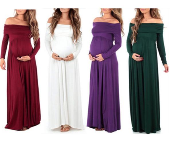 Desgaste das mulheres planície manga longa manga curta ombro lapela cintura alta esfregão saia para mulheres grávidas blusa causel vestido