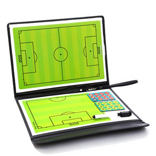 best selling Soccer Football Tactical Board Trainning Assisitant Equipments 2.5 Fold Leather Teaching Board ALS88