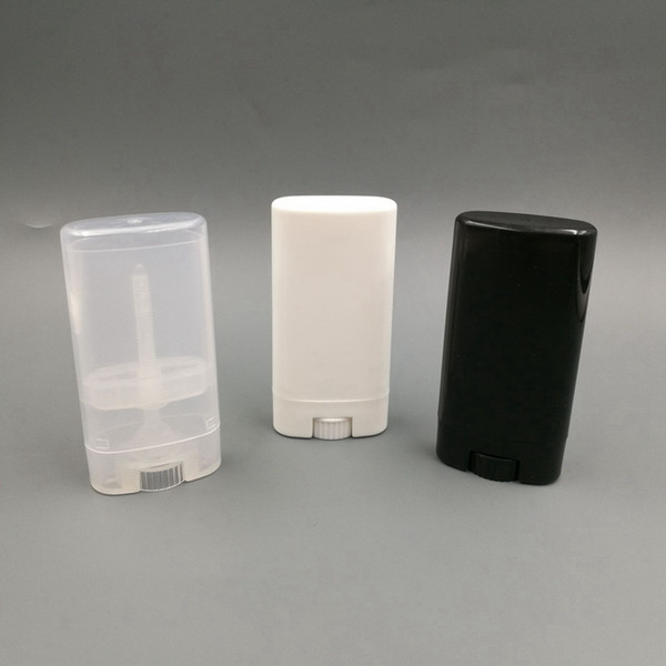 Tubos de bálsamo de labios ovalados vacíos 15g contenedores de lápices labiales de plástico de moda diy tubos de lápiz labial maquillaje herramientas rra790