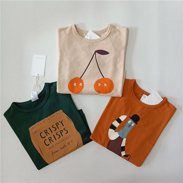 Bobozone 2018 Tc Cherry Long-sleeve T-shirt For Winter Boys Girls Baby Tops Y19051003