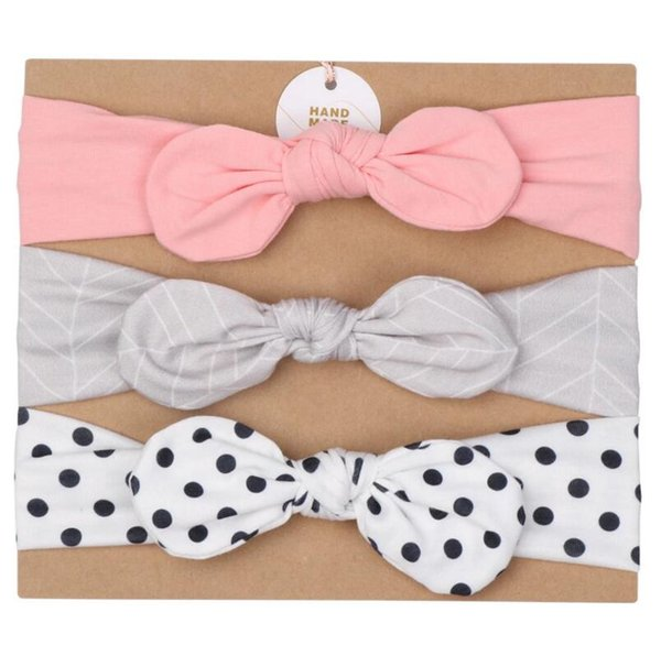 baby hair ban daccessories baby headband Exquisite Bow hairs three hair band with children's hair accessories set