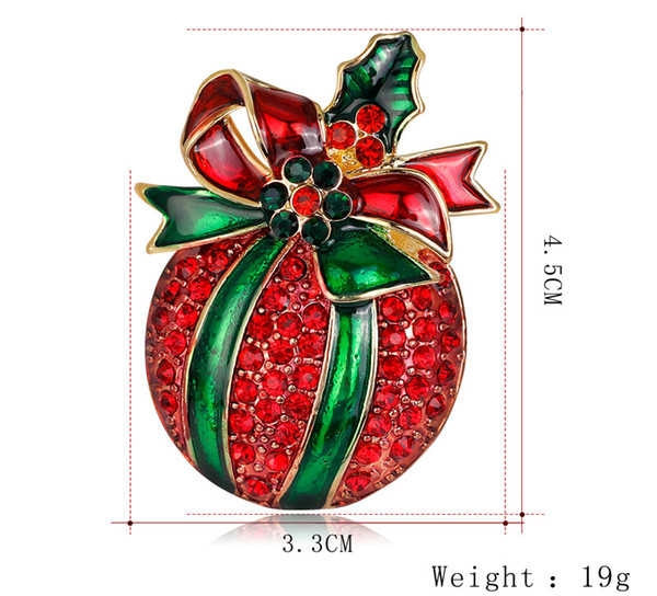 크리스마스 브로치 쥬얼리 빨간 사과 브로치 유럽과 미국 뜨거운 새로운 크리스마스 보석