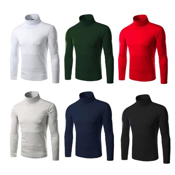 1pcs boy thermal turtleneck stretch casual long sleeve sweaters slim fashion shirt cotton mens comfortable top thumbnail