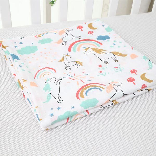 Manta de bebé de 28 colores, recién nacido, toalla, niños, doble muselina, caricatura impresa, toallas de baño de fibra de bambú, envoltura para bebés, mantas para bebés, mantas