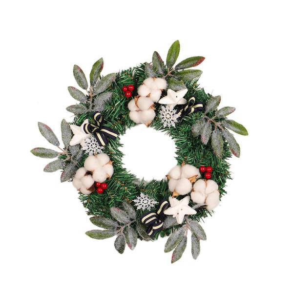 Christmas Wreath Christmas Hanging Door Wreath Garland Decor Artificial Flower Xmas Ornaments Decor Festive