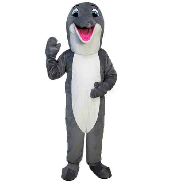 Gray dolphin Mascot cartoon, factory physical photos, quality guaranteed, welcome buyers to the evaluation and cargo photos