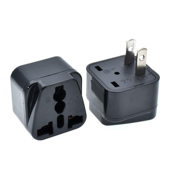 100pcs US 2-Flat pins Travel Adapter, Type A Multiple AC Plug, Univesal To Philippiens Japan Thailand Converter DHL/FeDex Free Shipping