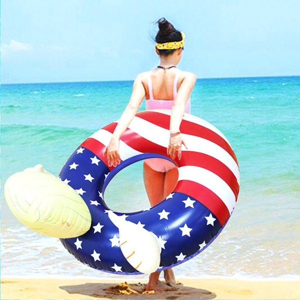 Trump Swim Ring Inflatable Floats 110cm Giant Thicken Summer Fun Inflatable Sofa Beach Play Water Pools Float Seat GGA1961