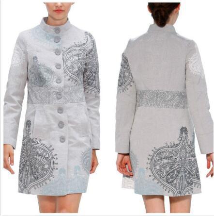 2019 Damen Mantel Jacke Flowers Женская куртка Пальто Разнообразие