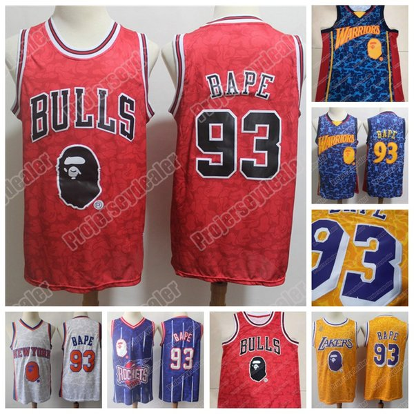 best selling Stitched BA PE 93 NCAA College Basketball Jersey Mens Purple White Red Blue Gold Joint Jersey IN STOCK High Quailty Free Shipping