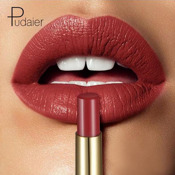 Pudaier Marke Matte Lippenstiftfarbe Kosmetik Wateproof Double Ended Long Lasting Nude Red Matte Lippen Liner Bleistift Lippenstift