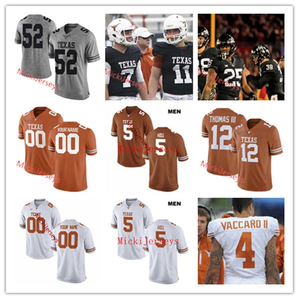 super popular f96f5 fb10b 2019 Texas Longhorns Football Jersey Holton Hill Earl Thomas Justin Tucker  Connor Williams Alex Okafor Adrian Phillips Kenny Vaccaro Texas Jersey From  ...