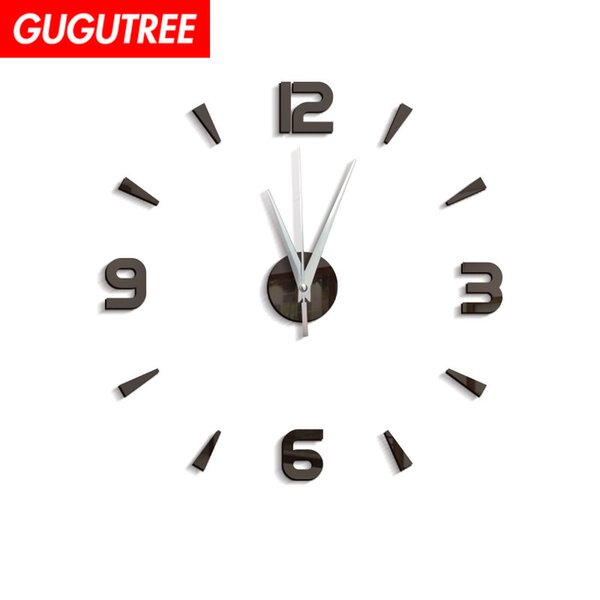 Decorate Home 3D number mirror clock art wall sticker decoration Decals mural painting Removable Decor Wallpaper G-28