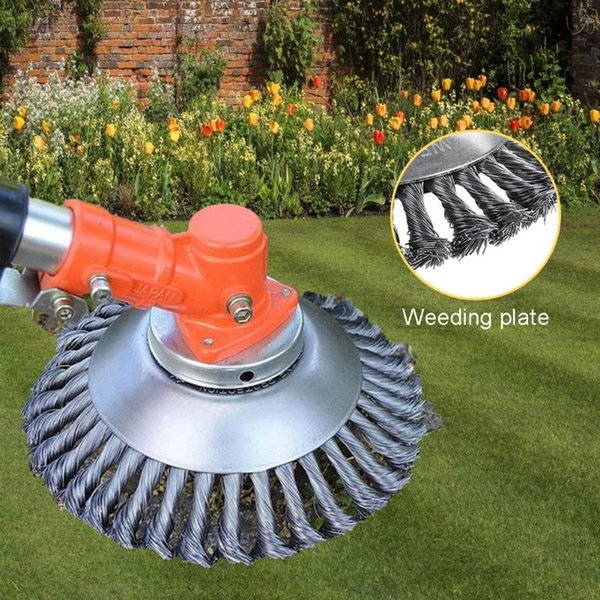 best selling Lawnmower Wire Grass Weeding Wheel Removal Stainless Steel Grass Tray Plate for Household Garden Decoration