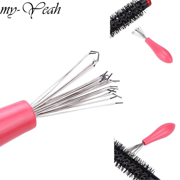 comb cleaner Professional Cleaning Brush Plastic Handle Embedded Cleaning Comb Dust Hair Remove Tool Styling Accessories