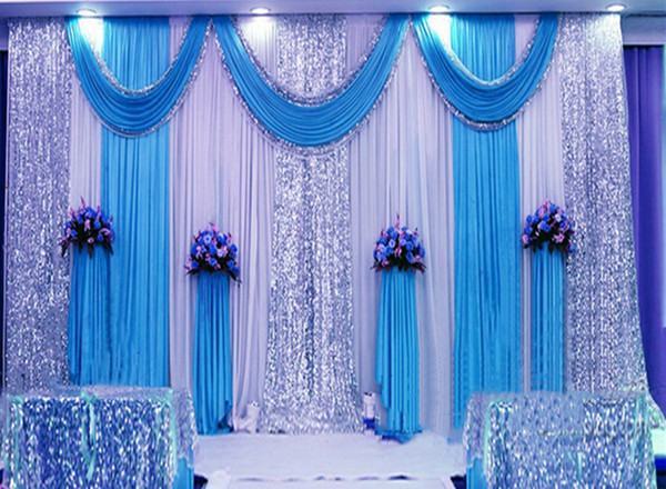 Wedding 3mx6m Backdrop Luxurious Marriage Stage Background With Beatiful Swag Wedding Stage Backdrop Decoration 98 1st Birthday Party Decorations 1st