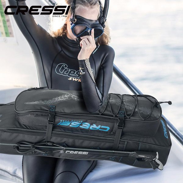 Cressi Piovra Long Fin Bags Spear Fishing Equipment Bag Backpack Free Diving Scuba Diving Bag with Insulated Cooler Compartment