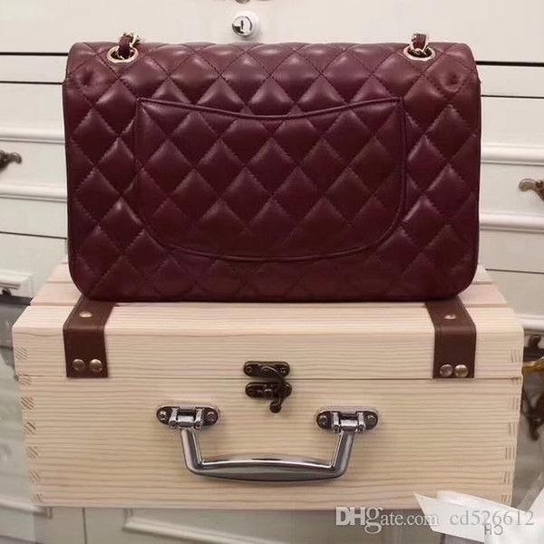 SXCF Lujo Clásico Woc Bag Billetera En Cadena Mujeres de Charol Genuino Mini Flap Messenger Bags Designer Bolsos 33814
