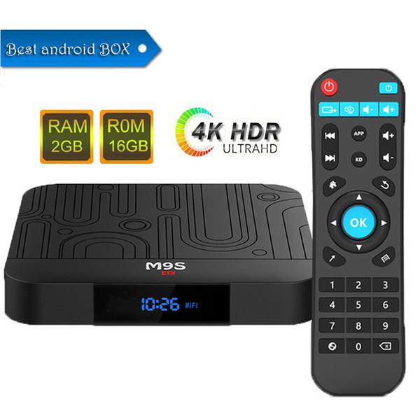 Factory M9S W1 Android 7.1 TV Box Amlogic S905W Quad-core 64 Bit 2GB 16GB 4K UHD WiFi & Lan VP9 DLNA H.265 Internet Media Streaming Player