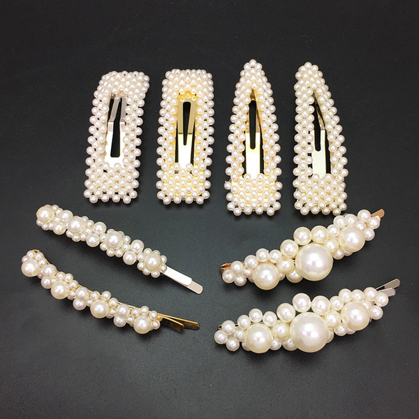 manilai simulated pearl hair clips for women handmade beaded hairpins wedding hair jewelry female gifts wedding accessories