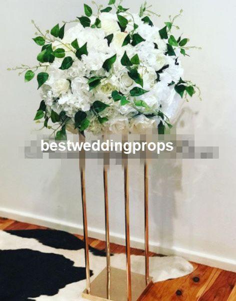 Hervorragende handgemachte Hochzeit Dekoration mental Gang Säule für die Dekoration, Kristallglas römische Säule, Tisch Hochzeit Herzstück best01198