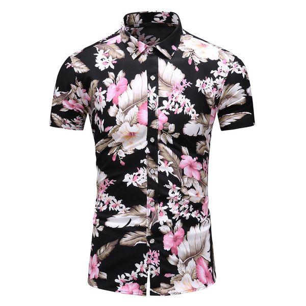 Фетун рубашки 2019 мужская одежда летний отдых с коротким рукавом плюс размер печати рубашки Camisa Моды регулярные плюс размер рубашки мужчины