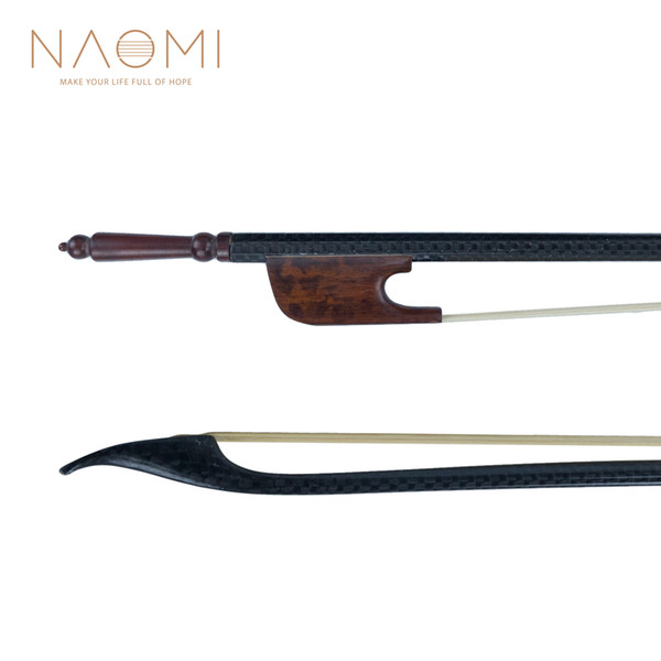NAOMI 4/4 Carbon Fiber Violin Bow Baroque Bow For 4/4 Violin Real Mongolia Horse Hair Snakewood Frog Violin Parts & Accessories