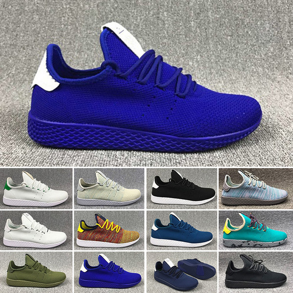 Hot Selling New arrive Pharrell Williams HU Primeknit Tennis men Shoes women Sneaker sports Shoes breathable EUR 36-45
