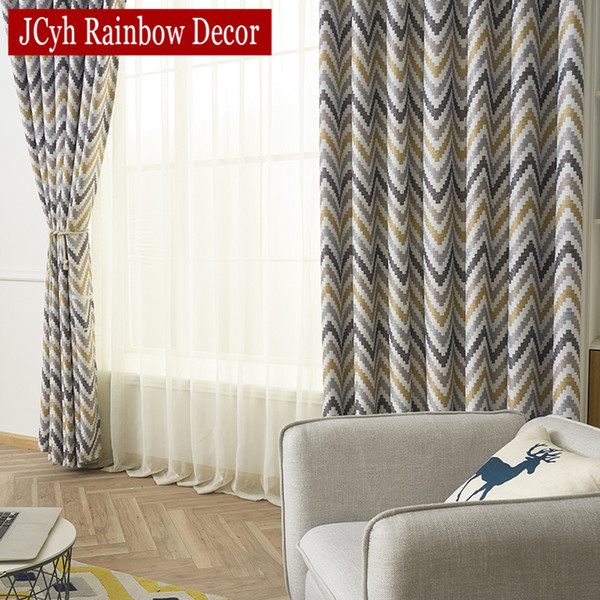 2019 Modern Yellow Ripples Blackout Curtains For Living Room Window  Blackout Curtains For Bedroom Drapes Treatment Panel Cortinas From  Aldrichy, ...