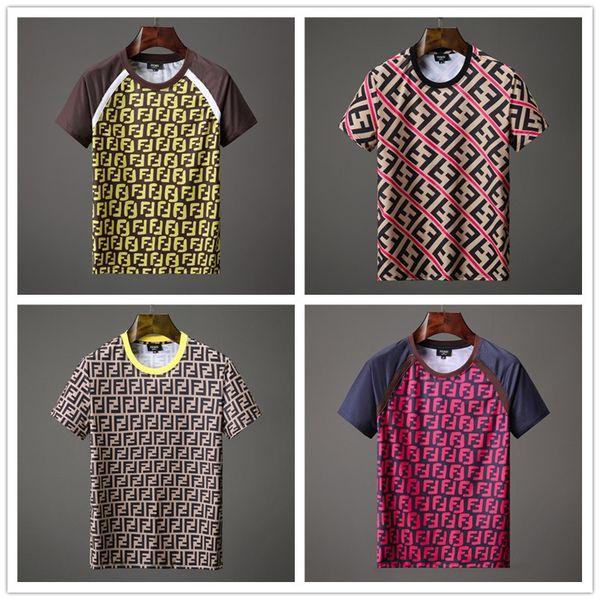 2019 fashion brand Mens T-shirts Men Short Sleeve Shirt Casual tshirt Tee Tops Mens with Short sleeves Shirt Patch animal motifs bulldog fig
