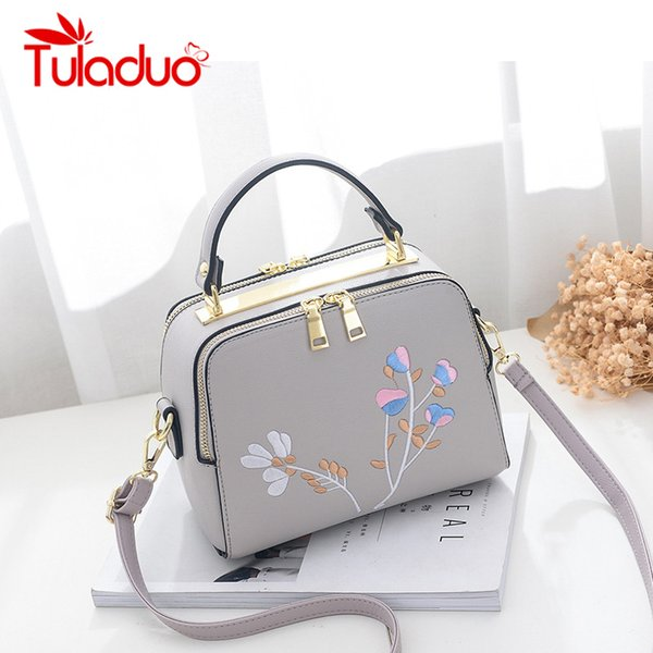 Tuladuo Fashion Brand Crossbody Messenger Bags for Women Embroidery Floral Designer Ladies Party Shoulder Small Flap Handbag Sac