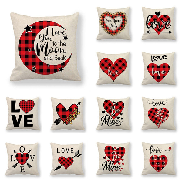 wedding Personalised /'Love/' Cushion Cover 45 x 45cm cotton canvas valentines