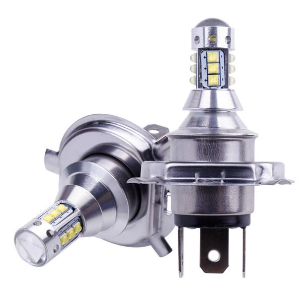 2 piezas de bulbo H4 16SMD LED super brillante XBD la viruta del coche luces de niebla 12V 24V 6000K blanca Conducir lámpara corriente llevada auto H4 Bulb