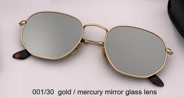 001/30 الذهب / الزئبق عدسة زجاج المرآة