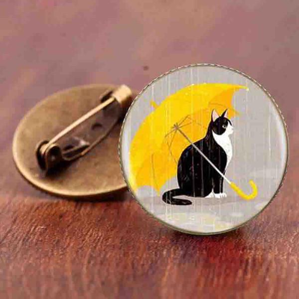 moda gatos broche de jóias acessórios de moda simples design sobrenatural steampunk gatos animais broches presentes pinos style0001